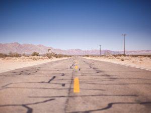 Uneven road